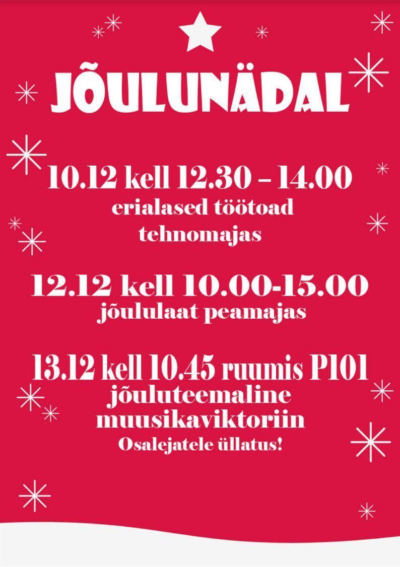 Jõulunädala plakat