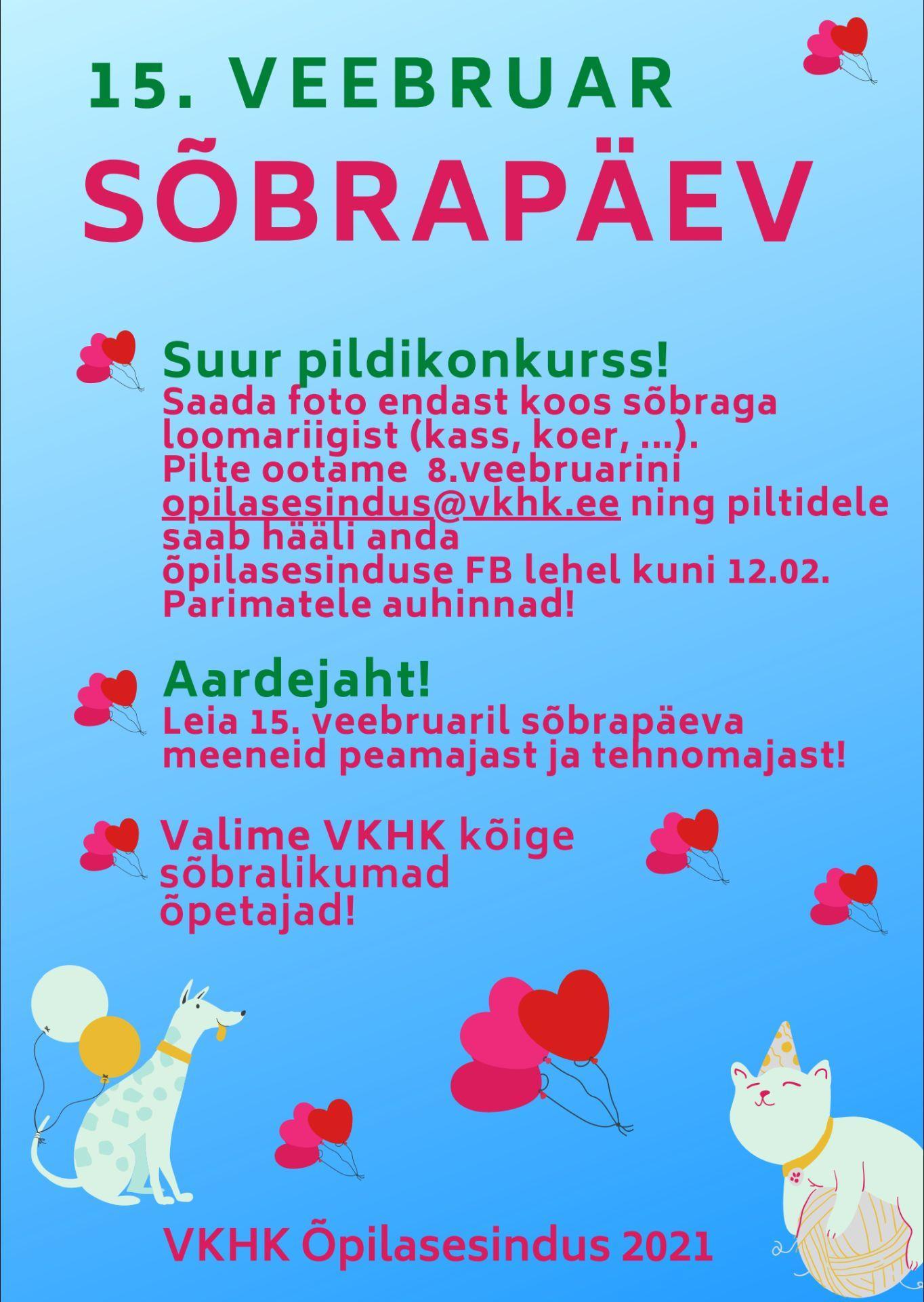 Sõbrapäeva plakat