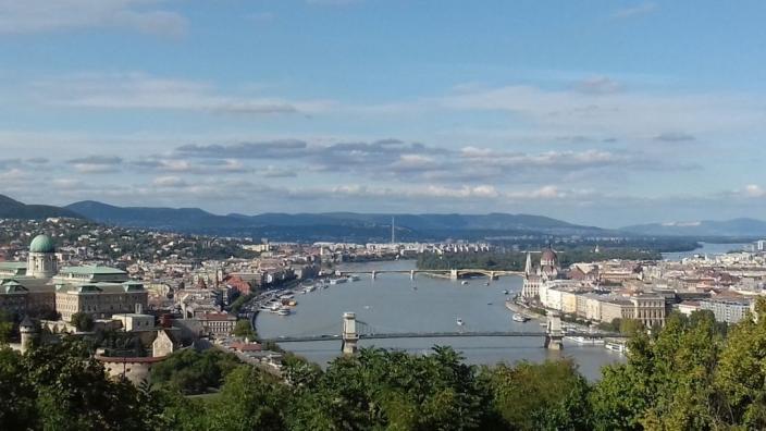 Vaade Budapestile Gellérti mäelt